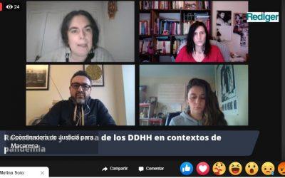 Académica PSM modera conversatorio «Resistencias y defensa de los DD.HH. en contextos de Pandemia»