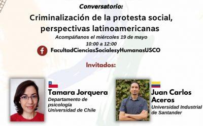 Investigadora PSM participa en conversatorio sobre criminalización de la protesta en América Latina